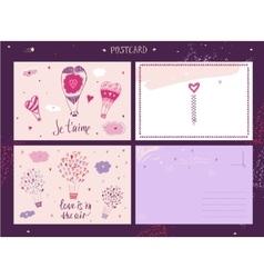 Valentine Day love message vector