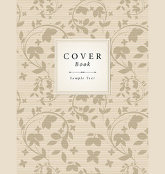 vintage book cover vector image