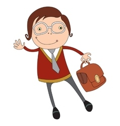businessman in glasses vector image