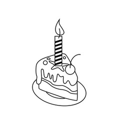 cake icon character 03 vector image