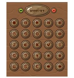 cartoon circle buttons set vector image