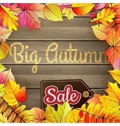 Autumn Big Sale typography poster EPS 10 vector image