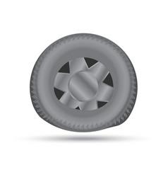 broken car wheel vector image vector image