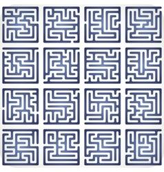 Set of Maze vector image vector image
