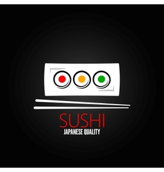 sushi roll plate menu design background vector image vector image