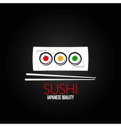 sushi roll plate menu design background vector image