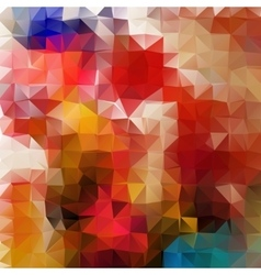 Abstract 2d mosaic triangle geometric background vector