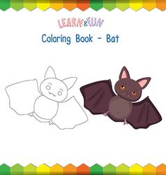 bat coloring book educational game vector image vector image