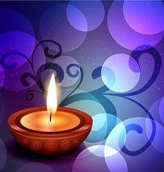 beautiful diwali background vector image vector image