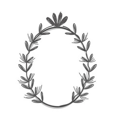 Rustic branches with flowers decoration vector