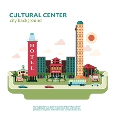 Cultural Center City Background vector image