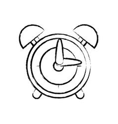 figure round clock alarm object design vector image