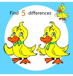 Find five differences duck vector image vector image