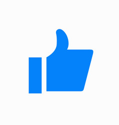 modern thumbs up icon on white background vector image