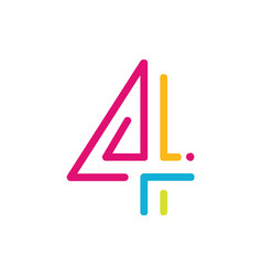 4 logo four number vector