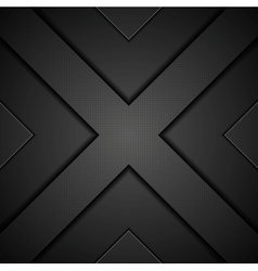 Abstract black concept technology background vector image