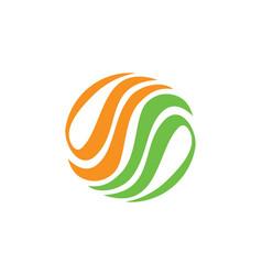 abstract circle eco logo vector image