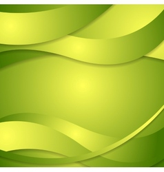 Abstract corporate green waves background vector