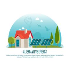 alternative energy green technology banner vector image