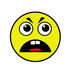 angry smiley on a white background vector image