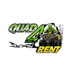 Atv quad bike for rent isolated background vector
