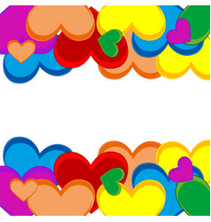 background from heart vector image