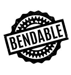 Bendable rubber stamp vector