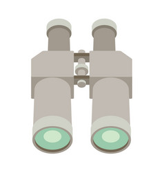 Binoculars flat icon on white background vector