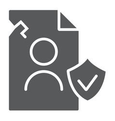 breach personall data glyph icon private and vector image