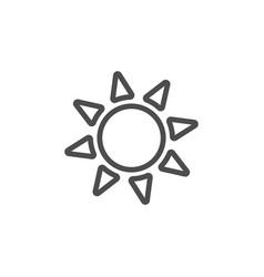 bright sun black icon nature simple vector image