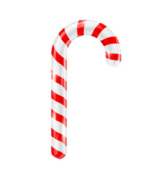 Candy cane red white striped 3d candy vector