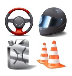 Car Racing Set vector image