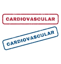 Cardiovascular Rubber Stamps vector