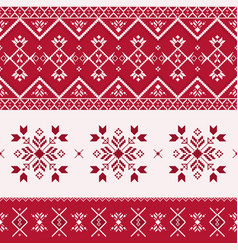christmas seamless pattern print with snowflakes vector image