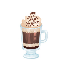 coffee smoothie with whipping cream refreshment vector image