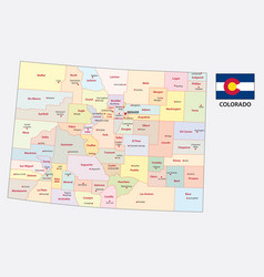 colorado administrative and political map vector image