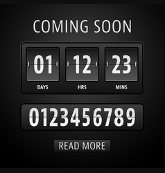 countdown timer template vector image