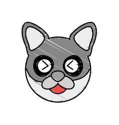 Cute raccoon drawing animal vector