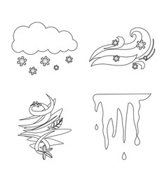 design of weather and climate icon vector image