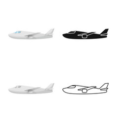 Design plane and white sign collection vector