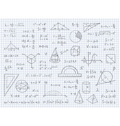 Doodle math physics and geometry formulas end vector