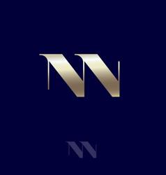 double n monogram logo combined premium emblem vector image