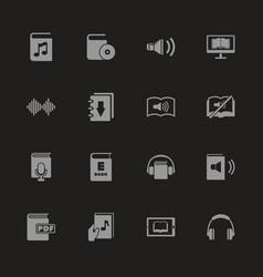 Ebooks - flat icons vector