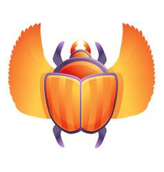 Egyptian scarab beetle icon cartoon style vector