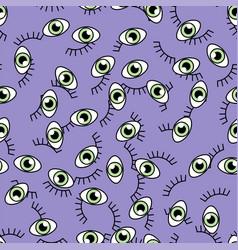 eye seamless pattern vector image