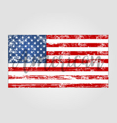 flag american grunge style vector image