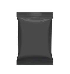 flexible bag of foil in black color food snack vector image