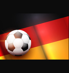 football ball and germany flag vector image