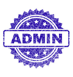 Grunge admin stamp seal vector