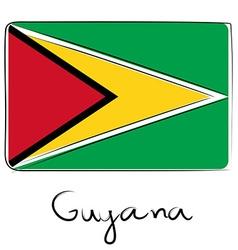 Guyana flag doodle vector image